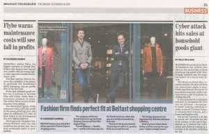 Belfast Telegraph Article 19 Oct 17